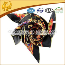 90*90cm Square Custom Silk Scarf