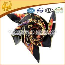 Lenço de seda personalizado quadrado 90 * 90cm