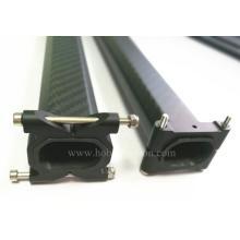 CNC Octagon carbon fiber small tube aluminum clamp