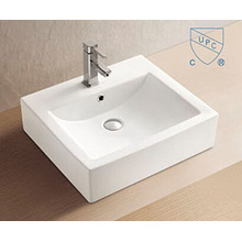 Bathroom Rectangular Shape Art Ceramic Porcelain Hand Wash Sink Basin