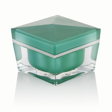 20/30/50 ml vert clair luxe en plastique crème pot cosmétique emballage crème pot avec vert clair bouchon à vis vente chaude