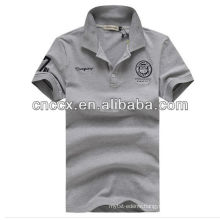 13PT1043 Men's plain color cotton polo shirt design