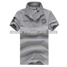 13PT1043 Design de camisa de algodão de cor lisa dos homens