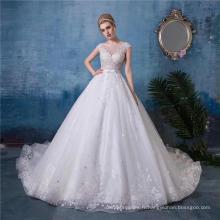 Sexy Backless Une ligne robe de mariée 2017 dernière conception HA588