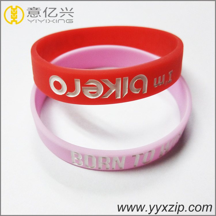 Silicone Embossed Wristband