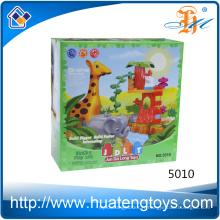 2016 Nouveau design animal zoo building blocks toys for kids