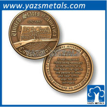 Doppel-russische Münzen für Geschenk