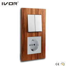 Mechanical Switch and Socket in Connect Version Wood Outline Frame