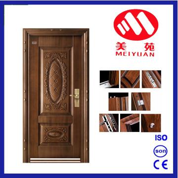 2017 تصميم جديد الأردن الأمن الباب الصلب مع الطلاء المعدني