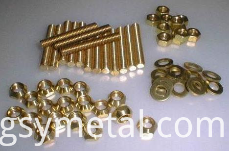 Brass carriage bolts