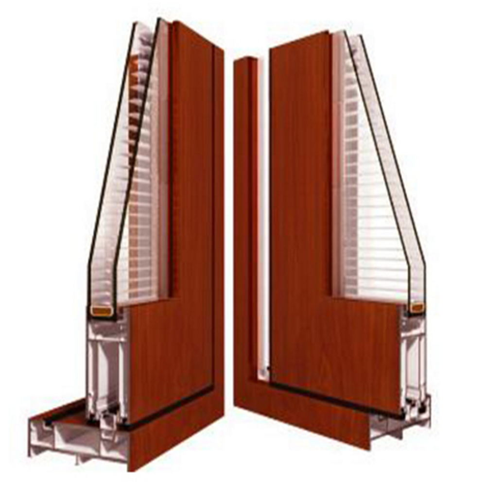 structure of folding doors with shutter