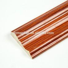 Bastante melamina Papel zócalo de madera corona moldura