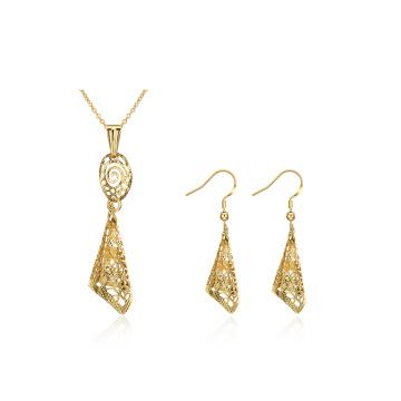 Mode Gold Schmuck Set Halskette und Ohrringe Sets