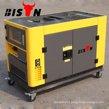 BISON China Taizhou BS12000DSE Big Fuel Tank No noise Silent 10kv Generator