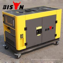 BISON Китай Чжэцзян Silent Digital 10KVA Дизельный генератор Цена