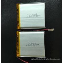 Kundenspezifische wiederaufladbare 4000mAh 3.7V Li-Polymer Akku 906065