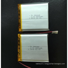 Customized Rechargeable 4000mAh 3.7V Li-Polymer Battery 906065