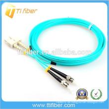 Faser Optisches Kabel 3.0mm 50/125 OM3 Duplex SC-ST Patch führt