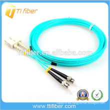 Cable de fibra óptica 3.0mm 50/125 OM3 duplex SC-ST Patch Leads