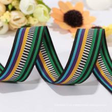 Cinta colorida del poliester de la venta directa de la fábrica / cinta del telar jacquar para la ropa