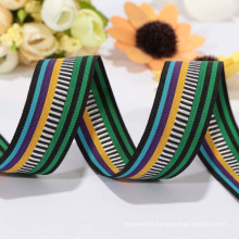 Factory direct sale colourful polyester ribbon/ jacquard ribbon for clothes