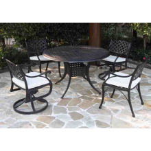 Muebles de Patio al aire libre del sistema de jardín de Metal de aluminio fundido