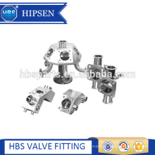 Multi-port sanitary stainless steel clamp diaphragm sample valve