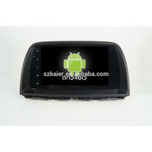 Quatro núcleos! Android 4.4 / 5.1 dvd do carro para MAZDA CX-5 com Tela Capacitiva de 9 polegadas / GPS / Link Espelho / DVR / TPMS / OBD2 / WIFI / 4G