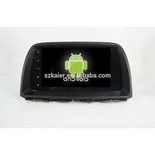 Четырехъядерный! Андроид 4.4/5.1 автомобильный DVD для Mazda CX-5 с 9-дюймовый емкостный экран/ сигнал/зеркало ссылку/видеорегистратор/ТМЗ/кабель obd2/интернет/4G с