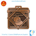 China Custom Stamping Antique Brass City Baseball Medal in High Quality
