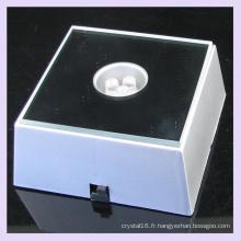 Base plastique LED lumière multi couleur pour l'affichage à cristaux gravure Laser 3D
