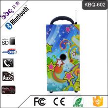 BBQ KBQ-602 1200mAh Zebra10W Wood Body USB SD MMC Card and Radio Bluetooth Furniture Speakers