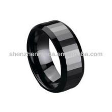 Couleur noire en céramique, anneaux de mode, bijoux, couple, amoureux, anneaux, sur mesure, pour les fabricants de bijoux pour hommes
