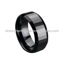 Black color ceramic fashion rings jewelry couple lover rings custom design for men's women's rings jewellery manufacturer