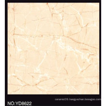 Full Polished Beige Color Glazed Porcelain Tile 600X600mm