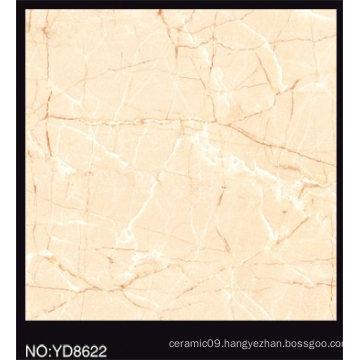 Full Polished Beige Color Glazed Porcelain Tile 600X600mm