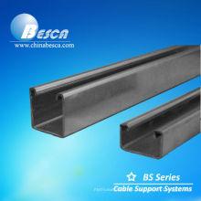 Canal de acero Pregalvanized Uni Strut (UL, IEC, SGS y CE)
