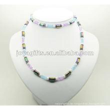 Mode Hämatit Wrap mit Regenbogen Tube Perlen