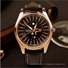 368 кожаные мужские часы серебристые водонепроницаемый высокая-класс коммерческий часы оптом, производители часов и часов