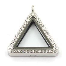 Triangle Floating Memory Locket Pendentif Charm Pendentif Cristal Cristal
