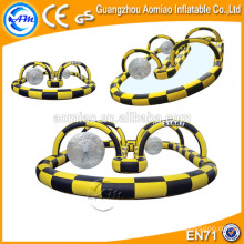 Pista de competición inflable, pista de la raza de la bola de Zorb, pista inflable del aire para la venta