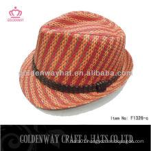 2013 Fashion Paper Orange Fedora Hat
