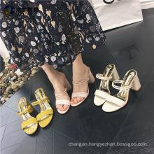 Unique ladies dual shoes/ ladies sandals women slippers