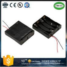 18650 Suporte para bateria vermelho e preto fio de chumbo AA bateria titular