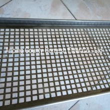Durable stainless steel perforated drying tray