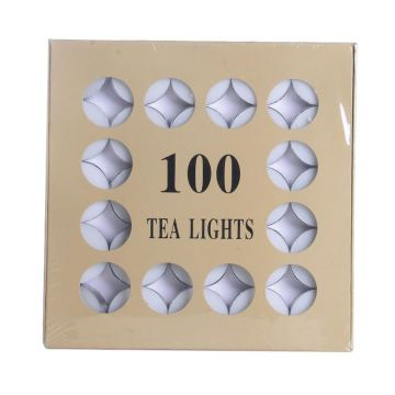 Meilleur prix 100pcs Box Tea Light Bougies