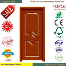 Nuevo diseño Simple puerta de madera PVC