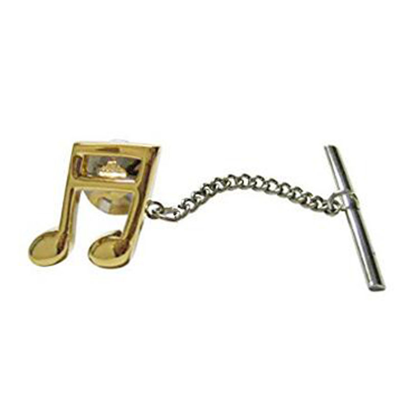 Gold Toned Quaver Musical Note Tie Tack