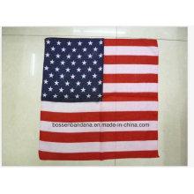 OEM Produce Bandera Personalizada Impreso Algodón Big Pañuelo