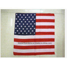 OEM Produce Customized Flag Printed Cotton Big Handkerchief